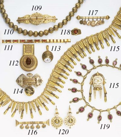 A SUITE OF ANTQIUE 18K GOLD AN