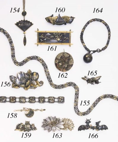 A MIXED METAL WATCH CHAIN