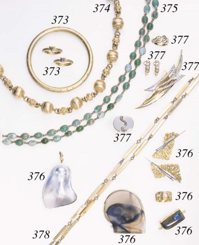 A GROUP OF GOLD AND GEM-SET CH