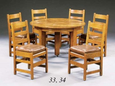 A SET OF SIX OAK SIDE CHAIRS