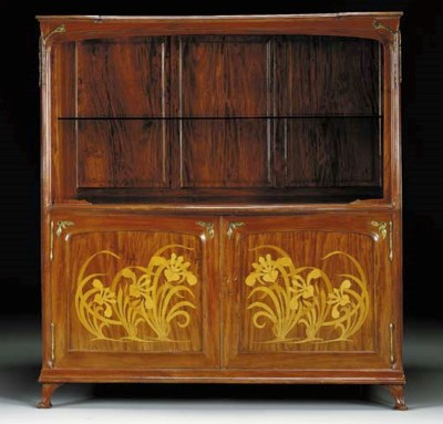 A MAHOGANY AND MARQUETRY SIDEB