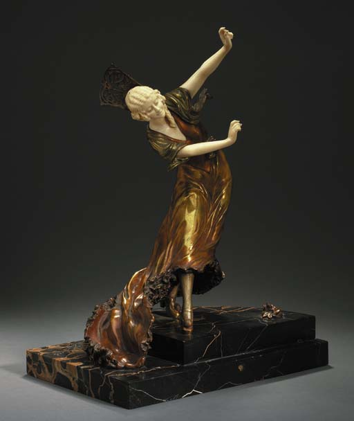 'MANOLA', A COLD-PAINTED BRONZ