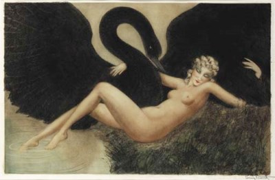 'LEDA AND THE SWAN', AN ETCHIN