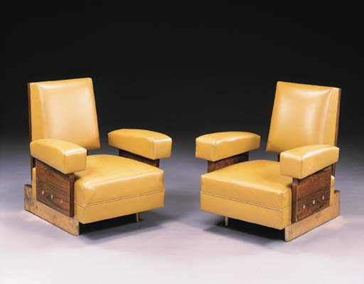 A PAIR OF ROSEWOOD ARMCHAIRS