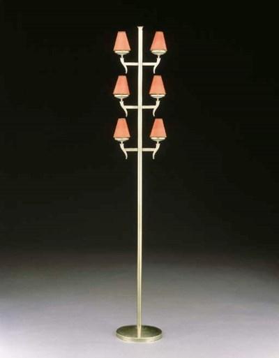 A BRUSHED METAL SIX-LIGHT TORC