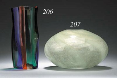 AN 'A CANNE' GLASS VASE