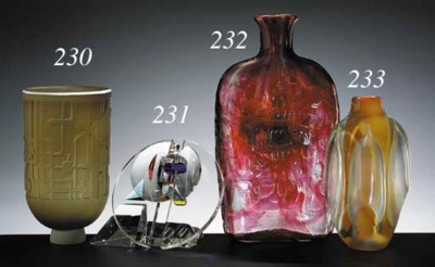 'UNTITLED', A GLASS VESSEL
