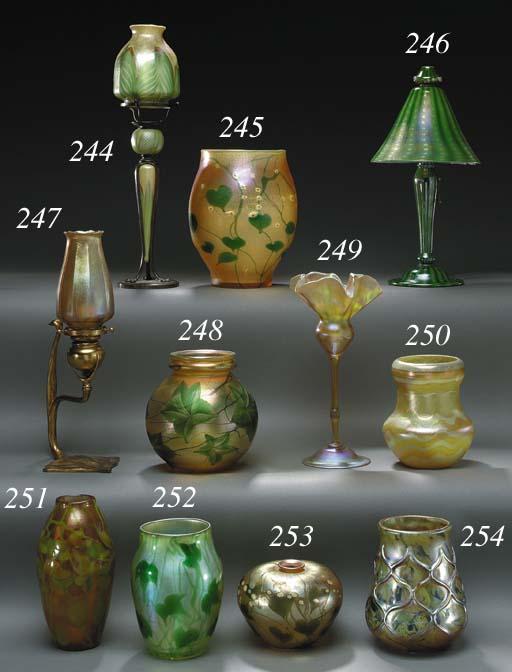 A FAVRILE GLASS DESK LAMP