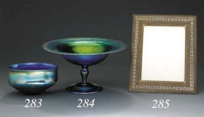 AN ENAMELED PICTURE FRAME