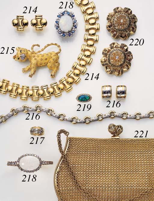 AN 18K GOLD, DIAMOND AND EMERA