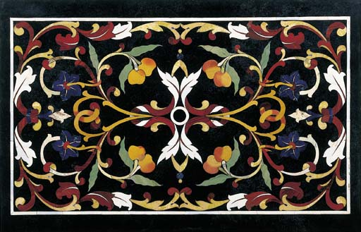 A PIETRE DURE TABLE TOP