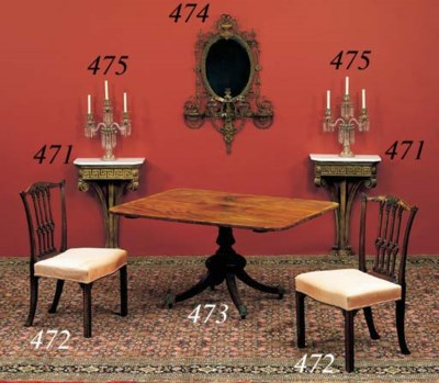 A REGENCY MAHOGANY BREAKFAST-T