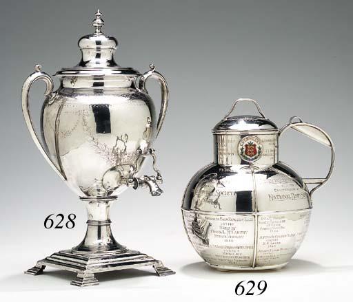 A VICTORIAN SILVER TEA URN