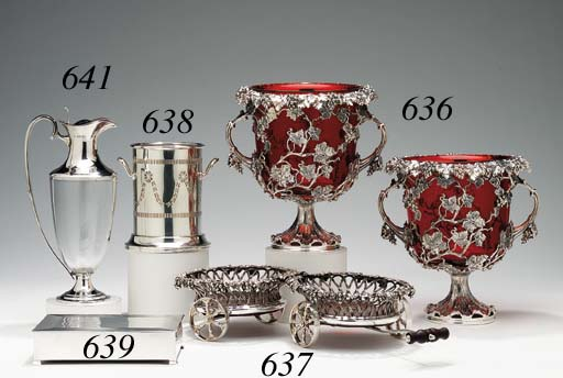 A VICTORIAN SILVER-PLATED DOUB