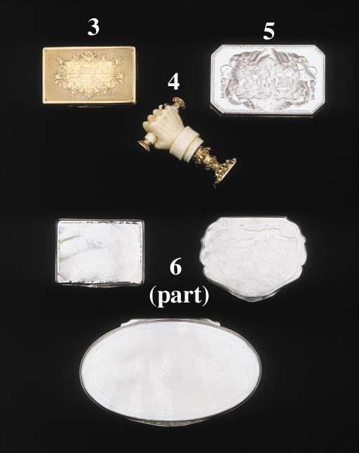 A VICTORIAN GOLD PRESENTATION SNUFF BOX