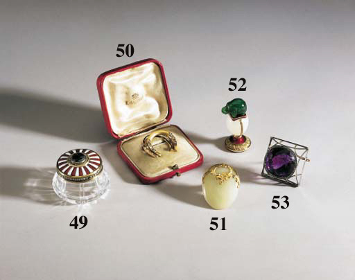 A JEWELLED GOLD-MOUNTED ENAMEL ROCK-CRYSTAL PILL-BOX