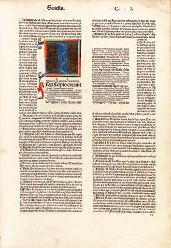 BIBLE, Latin. With the Glossa