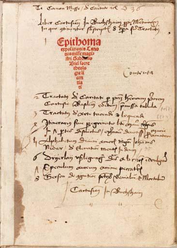 BIEL, Gabriel (ca. 1418-1495).