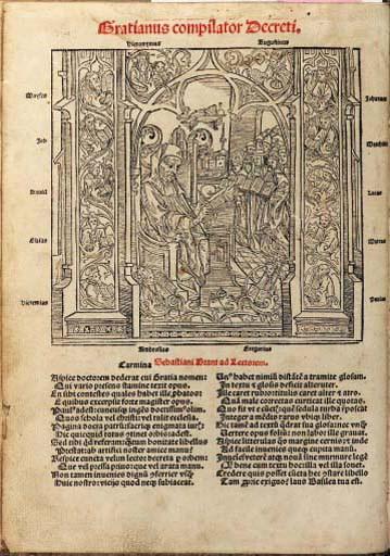 GRATIANUS (d. 1158). Decretum.