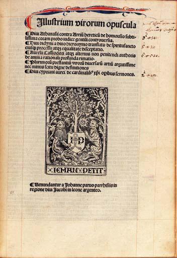 ATHANASIUS (pseudo-). De homou