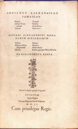 APPIANUS (ca. 100-ca. 170). Ro