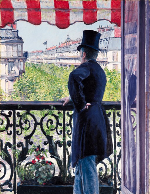 Gustave Caillebotte (1848-1893), LHomme au balcon, boulevard Haussmann, 1880. 45⅞ x 35⅛  in (116.5 x 89.5 cm). Sold for $14,306,000 on 8 May 2000 at Christie's in New York