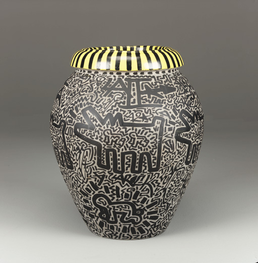 Keith Haring And La 2 1958 1990 And B 1959 Untitled Vase