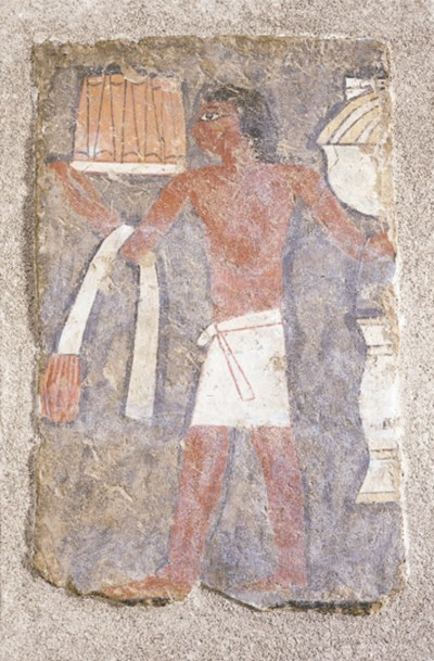 A OLD KINGDOM PAINTED FRESCO P