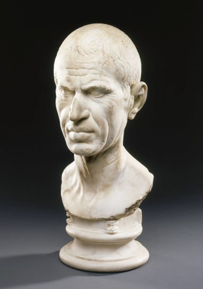 A ROMAN MARBLE PORTRAIT OF A M