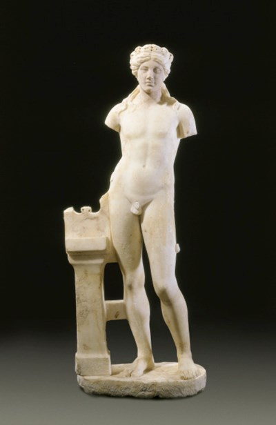 A ROMAN MARBLE FIGURE OF APOLL