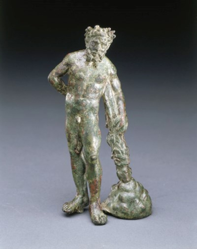 A ROMAN BRONZE FIGURE OF HERAK
