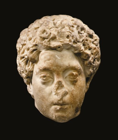 A ROMAN MARBLE PORTRAIT OF THE