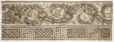 A ROMAN MARBLE MOSAIC PANEL