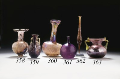 A ROMAN GLASS FLASK