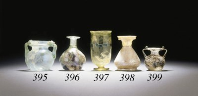 A ROMAN GLASS JAR