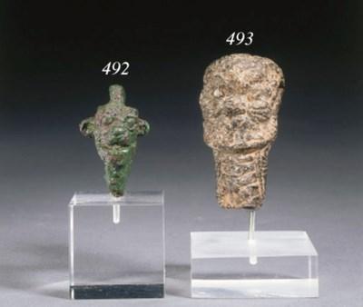 A NEO-ASSYRIAN BRONZE PENDANT