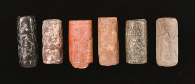 SIX NEO-ASSYRIAN CYLINDER SEAL
