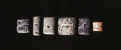 SIX NEAR EASTERN CYLINDER SEAL