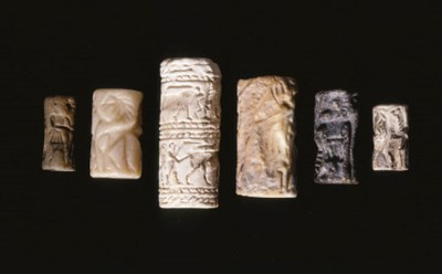 SIX MESOPOTAMIAN CYLINDER SEAL
