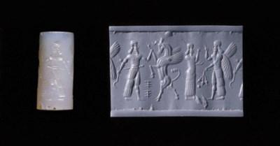 A NEO-ASSYRIAN GRAY CHALCEDONY