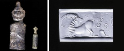 TWO NEAR EASTERN CYLINDER SEAL