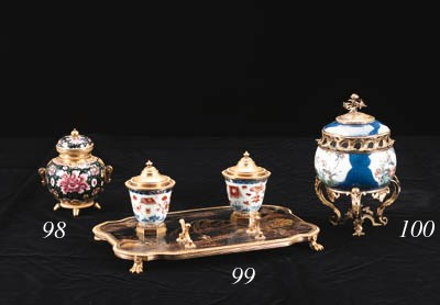 A FRENCH ORMOLU-MOUNTED FAMILL