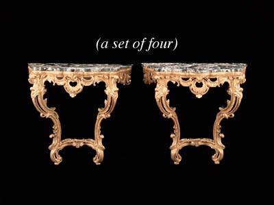 A SET OF FOUR ITALIAN ROCOCO S