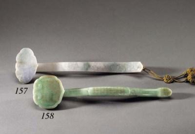 A Mottled Pale Green Jadeite R