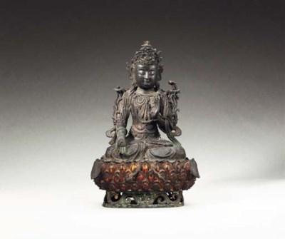 A Rare Dated Bronze Figure of