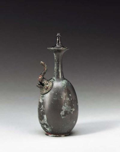A Rare Silvery Bronze Kundika