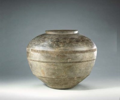 An Unusual Large Grey Pottery