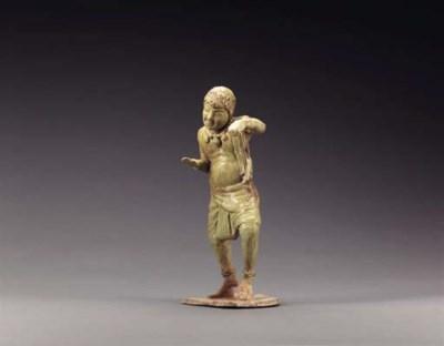A Straw-Glazed Pottery Figure