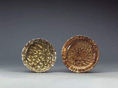 A Small Straw-Glazed Marbleize