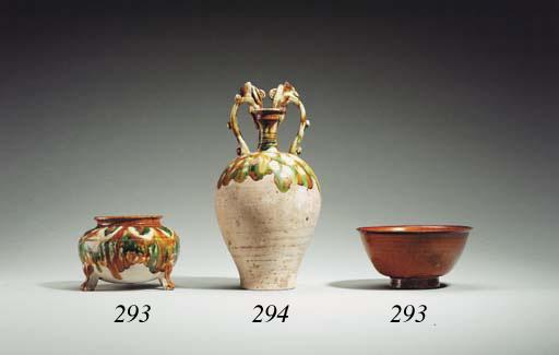 A Sancai-Glazed Pottery Amphora
